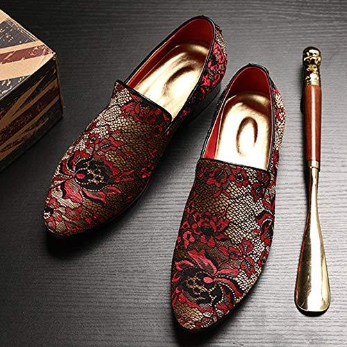 Bordado Juveniles Guisantes La Marea Red Mocasines Hombres Estilista Nocturno Casuales Zapatos Personalizado Club De Para FEFHOqX