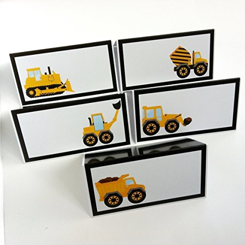 Dump Truck Birthday (Construction Dump Truck Place Tent Cards - Boy Birthday Baby Shower Party Supplies - Set of 12)