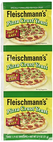 Fleischmann's Pizza Crust Yeast, Specially Formulated For Pizza Crust, 0.75 oz (Pack of 4)