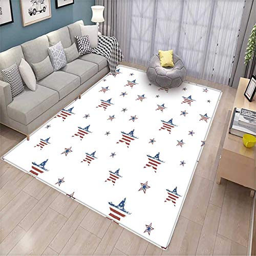 4th of July Customize Door mats for Home Mat Scattered Stars