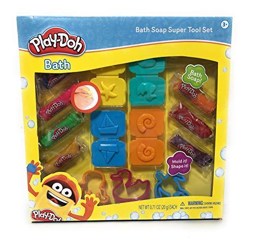 Play-Doh Bath Soap Super Tool Set 3 cutters 4 molds