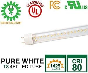 Zenaro RSLT81-4FT-15W-5000-ND-IDS-CL LED Tube Lighting T8 Tube