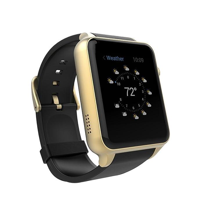 Reloj Inteligente, STOGA Bluetooth Smartwatch Soporte Tarjeta SIM Monitoreo del ritmo cardíaco Táctil con cámara impermeable para IOS Android Phone ...