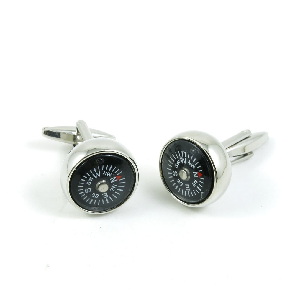 50 Pairs Cufflinks Cuff Links Fashion Mens Boys Jewelry Wedding Party Favors Gift 949IT0 Compass