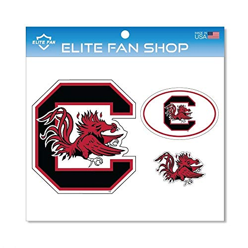 Elite Fan Shop South Carolina Gamcocks Magnet 3-Pack - Red