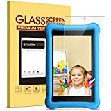 All-New Fire HD 8 Kids Edition Screen Protector - SPARIN Tempered Glass Screen Protector for Fire HD 8 and Kids Edition Tablet 2017 Release