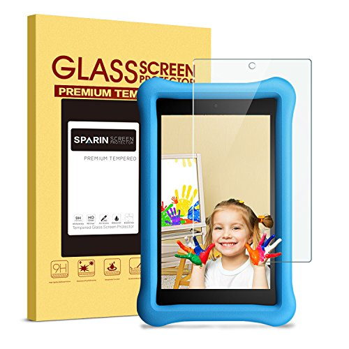 All-New-Fire-HD-8-Kids-Edition-Screen-Protector---SPARIN-Tempered-Glass-Screen-Protector-for-Fire-HD-8-and-Kids-Edition-Tablet-2017-Release