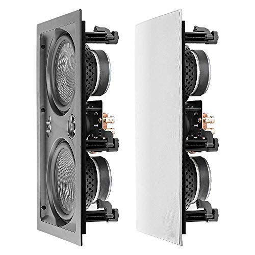 "OSD Audio 6.5"" Trimless in-Wall LCR Speaker - Dual Woofers & Dome Tweeter, Single - IW650LCR"