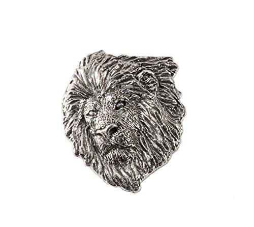 Pin Lion Head (Lion Head Premium, Pewter Pin, M102PR)