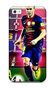 Excellent Iphone 5c Case Tpu Cover Back Skin Protector Andres Iniesta Fc Barcelona S Kimberly Kurzendoerfer