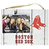 "KH Sports Fan 10"" x 8"" Boston Red Sox Clip It Weathered Logo Photo Frame"