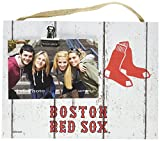 "KH Sports Fan 10""x8"" Boston Red Sox Clip It Weathered Logo Photo Frame, 10"" x 8"""
