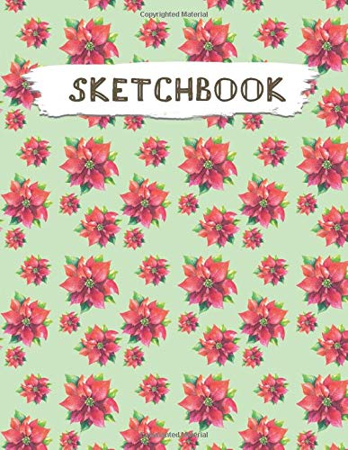 Sketchbook: Christmas Pattern Practice Drawing Paint Write Doodle Large Blank Pages 8.5 x 11 for Notes Sketching Creative Diary Manga and Journal (Volume 76)