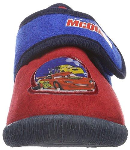 Cars Jungen Boys Kids Velcro Low Houseshoes Flache Hausschuhe Mehrfarbig (RED/CBLU/NAV 581)