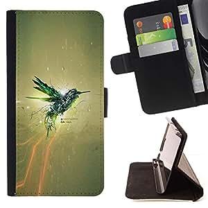 Momo Phone Case / Flip Funda de Cuero Case Cover - IMPRESIONANTE COLIBRI - LG G4c Curve H522Y (G4 MINI), NOT FOR LG G4