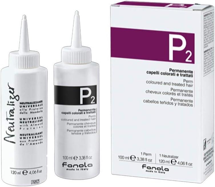 Fanola Permanente P2 Cabellos Coloreados Tratados Monodosis 100 mL + 120 mL Neutralizante