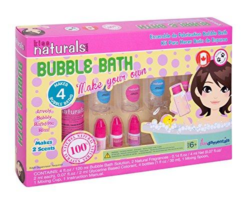 Bath Fun Kit (Kiss Naturals: Bubble Bath Making Kit - All Natural, DIY)