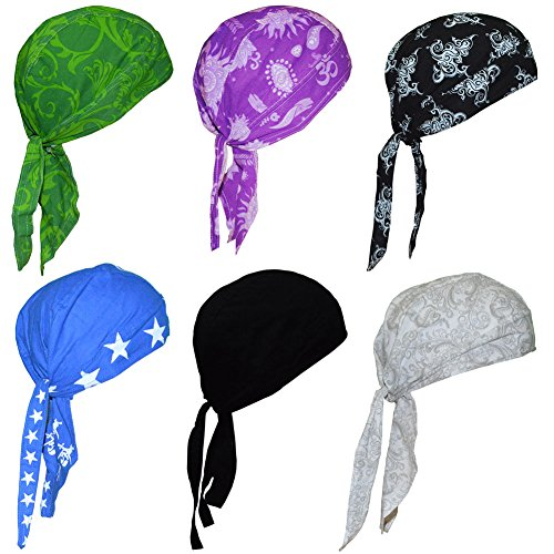 3bf4d081928 Cotton Bandanas   Dew Rag   Skull Cap   Cycling Cap  Beanie  Adjustable Hat Head  Scarf  Chemo Caps   Fits under Helmets. Perfect for Running