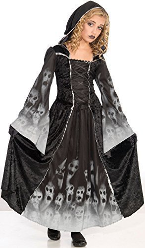 Kids Girls Childs Grim Reaper Soul Eater Dress Robe Halloween Horror Scary Fancy Dress Costume Outfit 6-12 Years (6-9 Years) ()