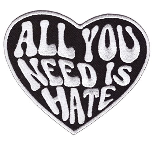 Hook All You Need is Hate Heart Tactical Gear Morale Patch B