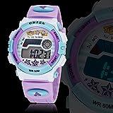 eYotto Boy's Girl Purple Waterproof LED Digital Electronic Out-door Multi-function Sports Wrist Watch