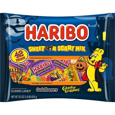 Haribo Sweet or Scary Mix, Halloween Gummi Candy, 22.7 Oz. (1) by Haribo