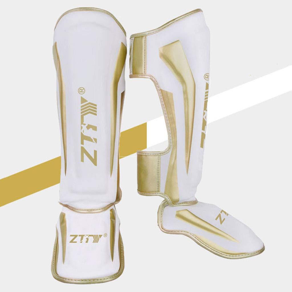 YZZR Espinilleras MMA Cuero de PU Equipo de protecci/ón Empeine Almohadillas para piernas Muay Thai Boxeo Entrenamiento,Kickboxing,Artes Marciales,Karate,Judo,Sparring M,L