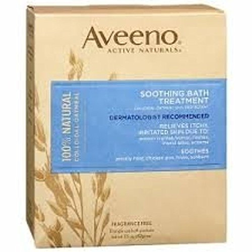 AVEENO Active Naturals Soothing Bath Treatment Packets 8 Each ( Pack of 8)