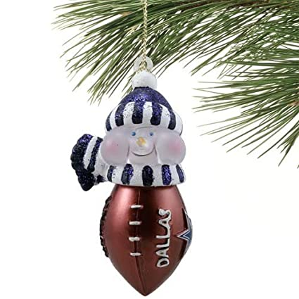 nfl dallas cowboys new all star light up snowman ornament