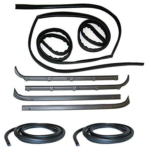 - Fairchild Automotive KF1001-8 Glass Run Channel Kit (Inner & Outer Belt Weatherstrip Kit, Complete, Door Seal Kit, Driver Side & Passenger Side)