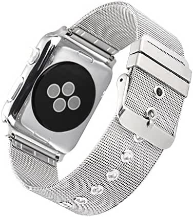 URBST Apple Watch Band,Stainless Steel Bracelet Strap Band for Apple Watch Series 2 Apple Watch Series 1 Apple Watch Sport Apple Watch Edition with Classic Buckle