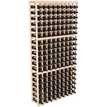 Wine Racks America Ponderosa Pine 9 Column Wine Cellar Kit. Unstained