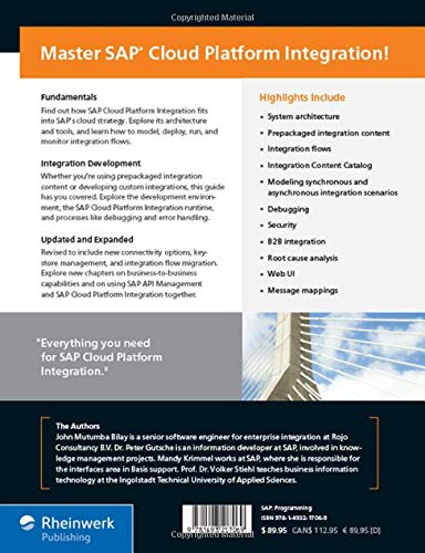 Buy SAP Cloud Platform Integration: The Comprehensive Guide Book