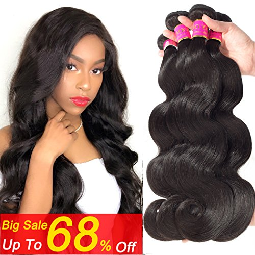 Todayonly Hair Peruvian Virgin Hair Body Wave 3 Bundles 8A Remy Body Wave Human Hair Weave Unprocessed Loose Body Wave Wavy Curly Hair Natural Color (18 20 (Loose Body Wave Weave)