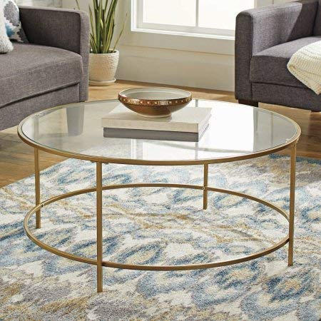 Better Homes and Gardens Nola Safety-Tempered Glass Top Coffee Table - Gold Finish by Better Homes & Gardens