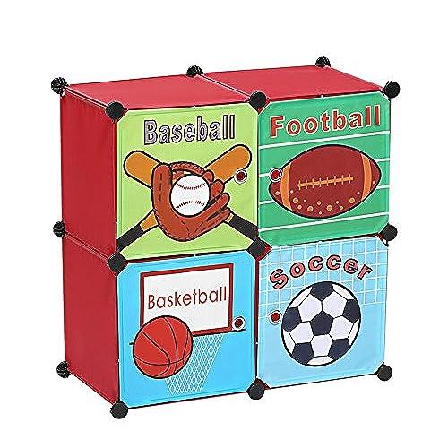 Sports Storage Box Toy Chest Organizer Bins, Kids Room Décor Cubes,  Birthday Christmas Gifts