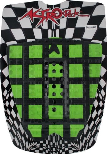 Astrodeck 403 Crossroads Traction Pad: Black/Green