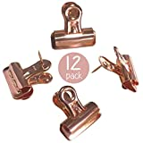 Rose Gold Push Pins with Clips | Thumb Tacks for Cork Boards, Bulletin Boards and Cubicle Walls