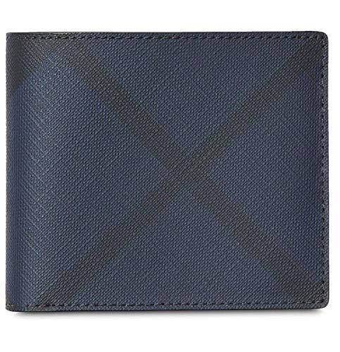 - Burberry Men's Blue Black Bifold Check Wallet