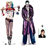 Fan Pack - Suicide Squad Harley Quinn and The Joker Movie Twin Pack Lifesize Cardboard Cutout / Standee / Stand Up - Includes 8x10 Star Photo