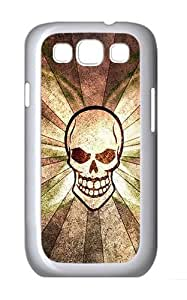Samsung Galaxy S3 Case and Cover- Skull Flag Custom PC Case for Samsung Galaxy S3 / SIII / I9300 White