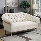 Coaster 902498-CO Tufted Loveseat, In Oatmeal For Sale