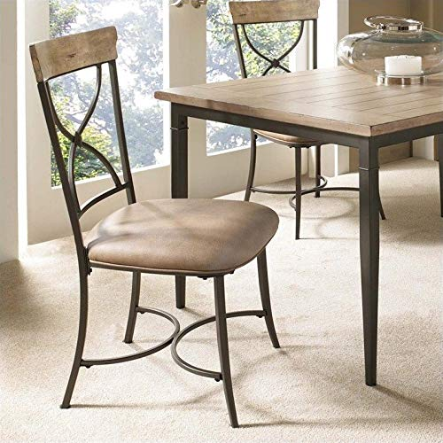 Hillsdale Furniture Charleston X-Back Dining Chairs, Desert Tan Finish, Set of 2