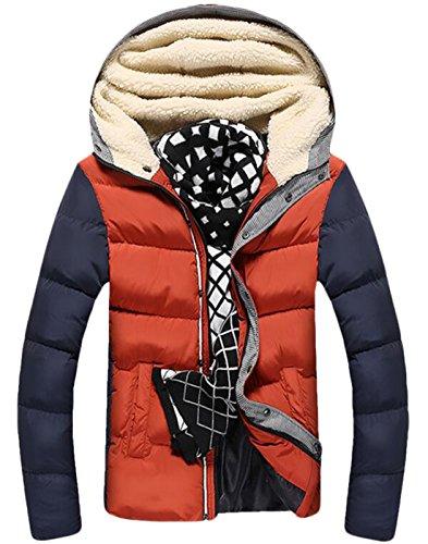 Thicken Winter Coat Down M Jackets Hood Warm Mens EKU Yellow Athletic Fur US YCRWqI