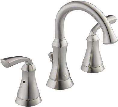 Delta Bathroom Faucets.Delta Mandara 8 Inch Widespread 2 Handle Bathroom Faucet In