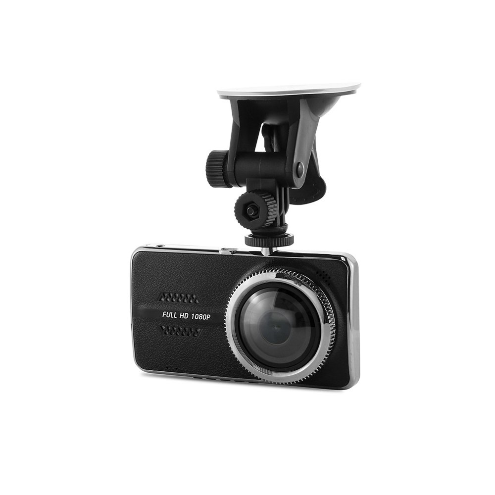 Lwj 1080P Full HD 1920x1080, 170° wide-angle 4.0-inch IPS car video camera with built-in G sensor, night vision, loop recording, parking monitoring, WDR, driving recorder DVR