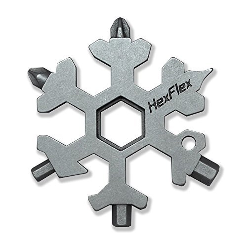 Hexflex Multi-tool STANDARD/METRIC BLUE - RED - GOLD - WHITE - MINT - CAMO - TITANIUM (Standard, Stainless Steel)