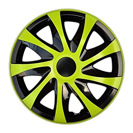 """Tapacubos DRACO VERDE compatible - Dacia - Daewoo - Fiat - Ford - 4pzs (15"""""""