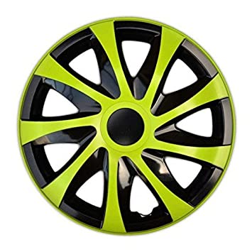 "Tapacubos DRACO VERDE compatible - Mitsubischi - Nissan - Opel - Peugeot - 4pzs (14"""
