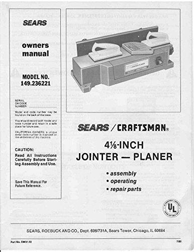 - 1986 Craftsman 149.236221 4-1/8